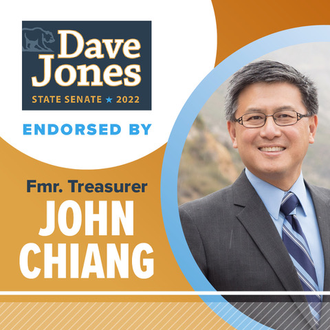 John Chiang Throws Support Behind Dave Jones for State Senate